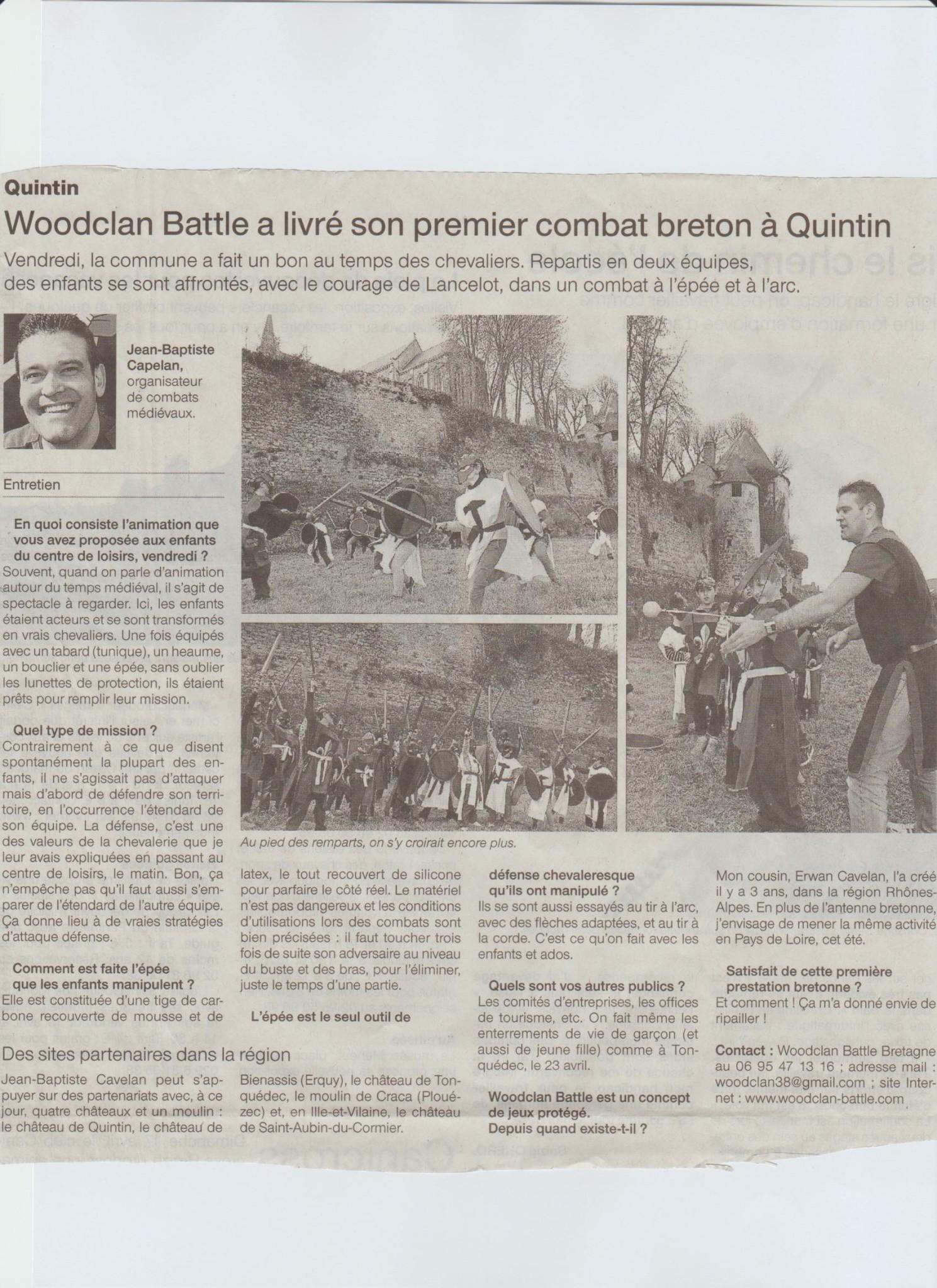 Web sigle auteur woodclan battle page 4 sur 5 - Ouest france le journal gratuit ...